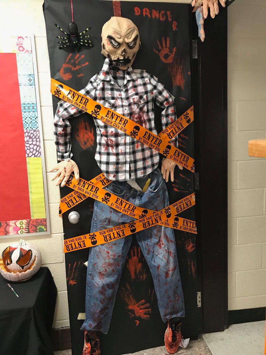 Halloween door's at St. Peter C.S… So much Creativity!