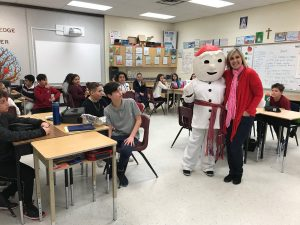 BonHomme visited St. Peter during Carnival